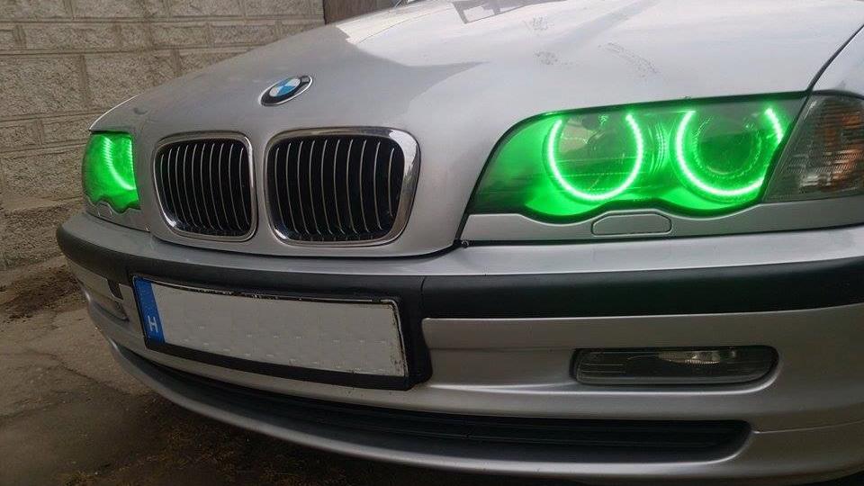 BMW E46 projektoroshoz 45SMD RGB LED színváltós multicolor